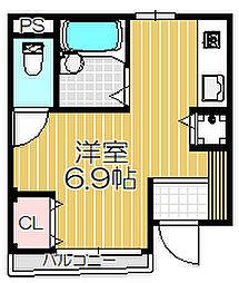 オネスト中島[103号室]の間取り