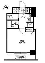 東京都文京区白山2丁目の賃貸マンションの間取り
