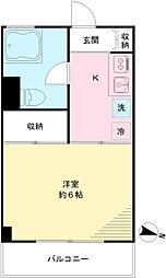 粟沢マンション[406号室]の間取り
