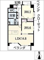 BLANCHEUR JYOUSAI[1階]の間取り