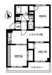 アネックスピア[2階]の間取り