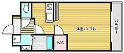 グランエターナ大阪学生会館[111号室]の間取り