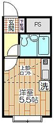 ベルピア竹ノ塚[106号室]の間取り