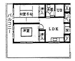 コスギ・ハイツ[0301号室]の間取り
