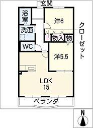 ハートフル柚子[1階]の間取り