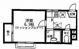 オーキッドハウス[1階]の間取り