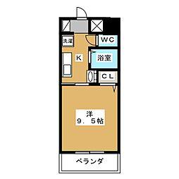 ラズベリー巾下[3階]の間取り