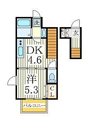 スプリームM[2階]の間取り