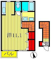パピヨン柏[2階]の間取り