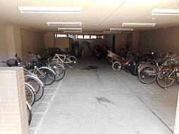 広々とした駐輪場