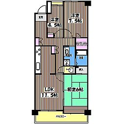 コーポレート小金井梶野町通り2号棟[2階]の間取り