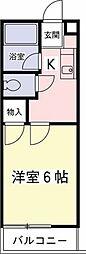 クレールハイムC[1階]の間取り