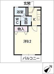 マイウェイディアス21[1階]の間取り