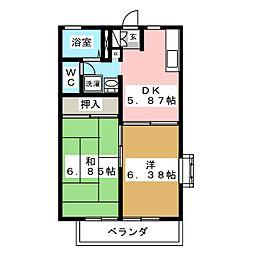シャンツェ南光台[2階]の間取り