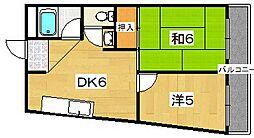 サイトウマンション[4階]の間取り