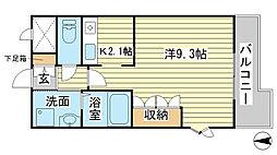 兵庫県相生市大石町の賃貸マンションの間取り