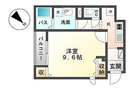 広島県広島市佐伯区三宅1丁目の賃貸アパートの間取り