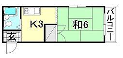 メゾンドゥ トゥモロー[305 号室号室]の間取り