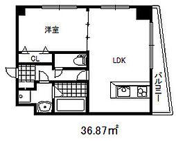 アドモリモト元町通 11階1LDKの間取り