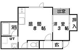 北海道札幌市豊平区美園七条3丁目の賃貸アパートの間取り