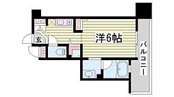 エスティライフ三宮東[9階]の間取り