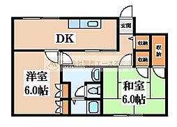 長曽根アパート[2階]の間取り