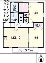 セジュールKATAHA C棟[1階]の間取り