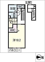 D−room wing[2階]の間取り