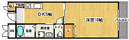 大阪府堺市西区鳳南町3丁の賃貸マンションの間取り