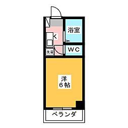 マンション八木倉[6階]の間取り