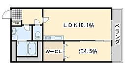 サニーハイツK[2階]の間取り