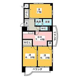 フェリーチェ勝川[7階]の間取り