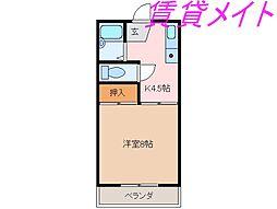 Je mappelle Nakazawa(ジュマペルナカザワ)[2階]の間取り
