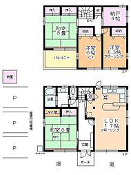 [一戸建] 埼玉県川越市大字的場 の賃貸【/】の間取り