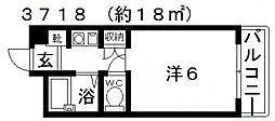 コーポチーマ[302号室号室]の間取り