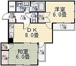 MATSUMURAパークハイツ綾瀬[203号室]の間取り