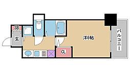 兵庫県神戸市兵庫区三川口町3丁目の賃貸マンションの間取り