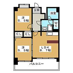 FLEX21博多II[13階]の間取り