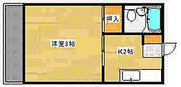 広島県広島市東区矢賀新町5丁目の賃貸マンションの間取り