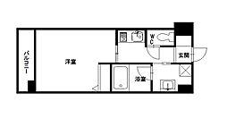 エムティースクエア吉塚駅前[708号室]の間取り