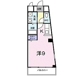 マサーナ阪神[101号室]の間取り