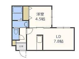 北海道札幌市東区北三十五条東17丁目の賃貸マンションの間取り