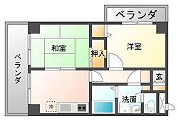 ダイナコート赤坂[5階]の間取り