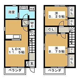 コールティ千賀の浦B[1階]の間取り