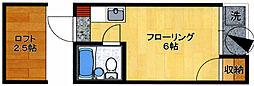 ユンゲルハイム輝国[2階]の間取り