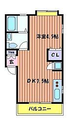 コーポ富士見[2階]の間取り