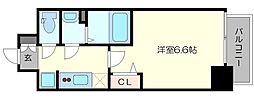 プレサンス梅田II 5階1Kの間取り