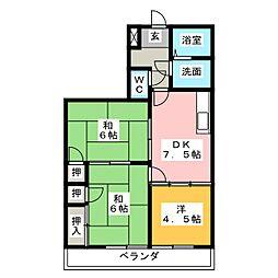 メゾン畑田[2階]の間取り