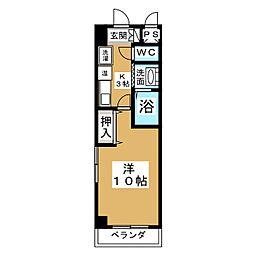 ザ・ロイヤルトップ名駅西[2階]の間取り