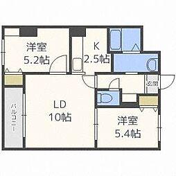 サムティ東札幌ノルド[3階]の間取り